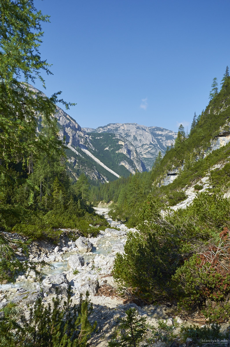 Trail to the 3 pinnacles close to Toblach, Italy