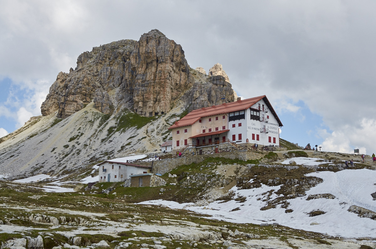 Our goal - the Three Pinnacle Hut